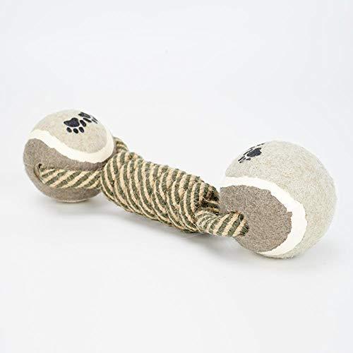 Hundezahnreinigung Molar Dekompressionsball Bissbeständiger Seilknoten Welpen Haustierbedarf-Tennis Puzzle Spielzeug