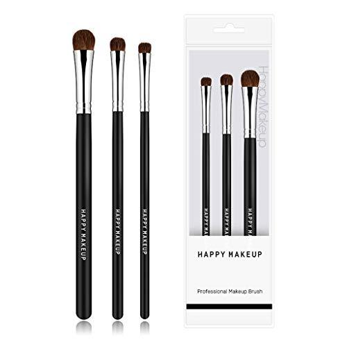 BGH ER-NMBGH 3 Pack Pro Cepillo del Maquillaje de Sombra de Ojos Cepillos Herramientas de Maquillaje para Principiantes