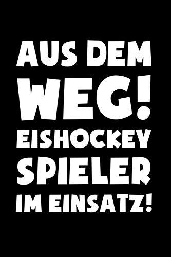 Eishockey: Eishockeyspieler im Einsatz!: Notizbuch / Notizheft für Eishockey-Fan Eishockey-spieler-in A5 (6x9in) liniert mit Linien