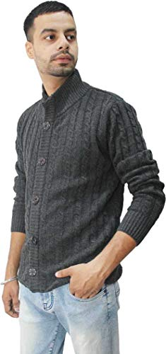 Matelco Mens Woollen Buttoned Sweater Full Sleeves for Winters