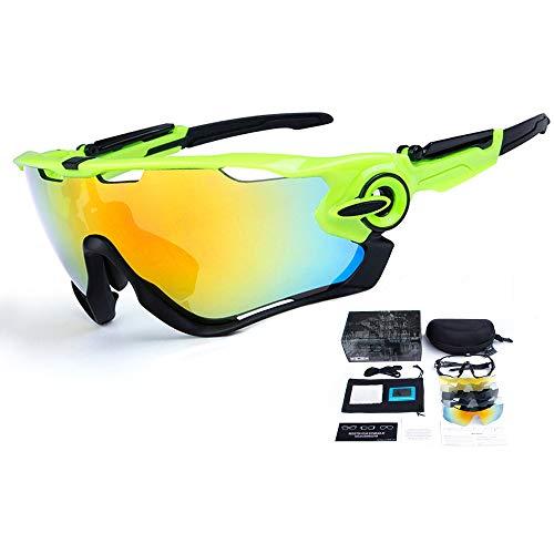 THXIY 5 Lente reemplazable Gafas de bicicleta descoloridas inteligentes Gafas de ciclismo...