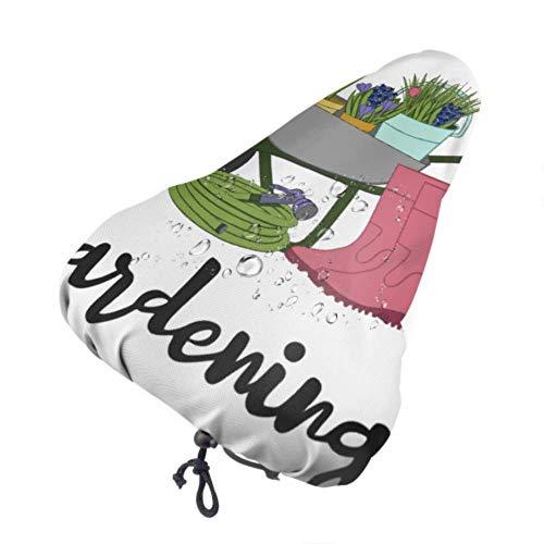 Zemivs Copertura da Sella per Bicicletta Impermeabile Giardinaggio Carriola Fiori Copertura da Sella per Bici Protezione per seggiolino per Bambini con Coulisse, Resistente alla Pioggia e alla polv