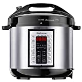 Elechomes 6Qt 9-in-1 Instant Cooking Electric Pressure Cooker, 14 One-Touch Programmable Multi-Cooker with Rich 5 PCS Accessories Set, Yogurt Maker, Slow Cooker, Rice Cooker, Sauté, Steamer, Warmer, Stainless Steel Inner