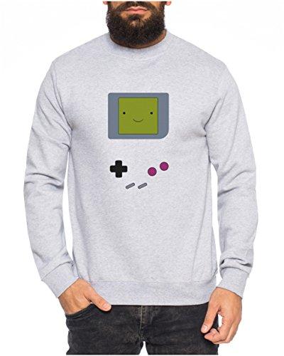 Big Gamesmile Bang Nerd Theory Sheldon Gameboy Herren Sweatshirt Pullover Sweat, Farbe:Grau, Größe:S