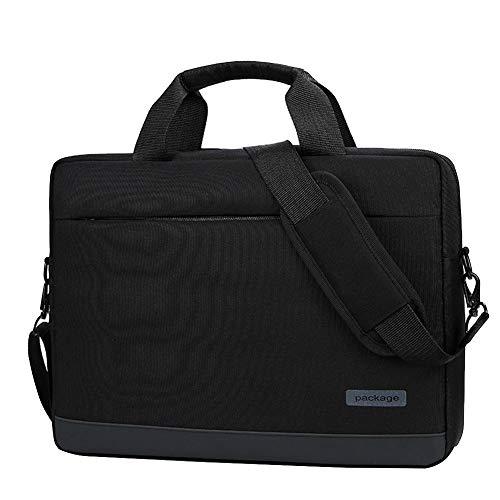 GUOCU Custodia PC 11-15.6 Pollici per Notebook Ultrabook, Borsa Valigetta Ventiquattrore Compatibile con MacBook PRO 2018 2017 2016, Sleeve Laptop Imbottita Idrorepellente,Nero,14 (38X28X7cm)