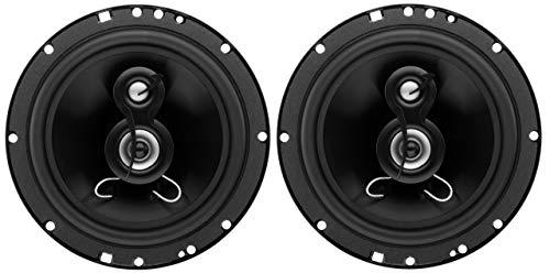 Planet Audio TRQ623 6.5 Inch Car Speakers - 300 Watts of Power Per Pair, 150 Watts Each, Full Range, 3 Way, Sold in Pairs