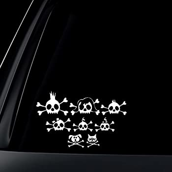 Skull Family Car Stick Figures Decal