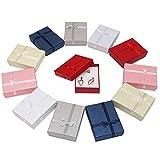 Kurtzy Cajas de Regalo(12 Piezas)- 8.5cm X 6.5cm X 2.5cm, 6 Colores- de Presentación de Joyería con Inserción de Terciopelo para Collares, Pulseras, Anillos y Pendientes