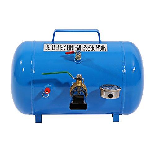 Compresor de aire comprimido, Inflator Shockwave 5 Gallonen-Reifenwulstsitzreifen-Lufttanker azul