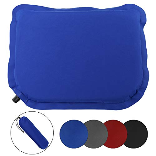 ALPIDEX Selfinflatable Pillow 40 x 30 x 3.8 cm Self Inflatable Cushion Lightweight Thermal Seat Camping Pillow Portable, Colour:Balance Blue