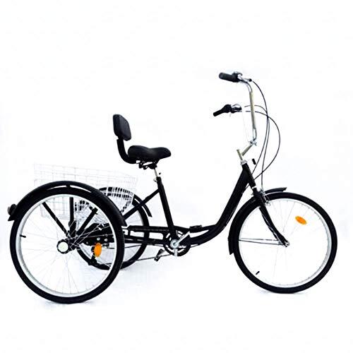 Relaxbx 24 in Wheels Volwassen Trike, driewieler voor volwassenen, zeer sterk stalen frame en pruik gelast, grootmoeder grootvader geschenk UK stok