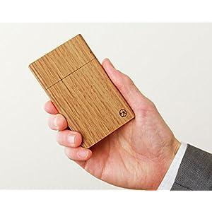 ヤクモ家具製作所 名刺ケース 木製 オーク材 薄型 スリム 日本製 ナチュラル 18枚 プレゼント カードケース 名刺入れ 木製ケース