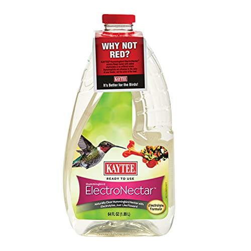 Kaytee 100506148 Ready to Use Hummingbird ElectroNectar, 64 Ounces, Clear