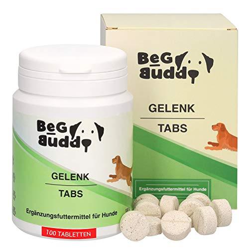 BeG Buddy – Gelenktabletten für Hunde, mit Grünlippmuschel, MSM, Teufelskralle, Glucosamin, für alle Rassen, 100 Tabs