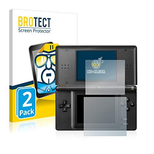 BROTECT Protector Pantalla Compatible con Nintendo DS Lite Protector Transparente (2 Unidades) Anti-Huellas