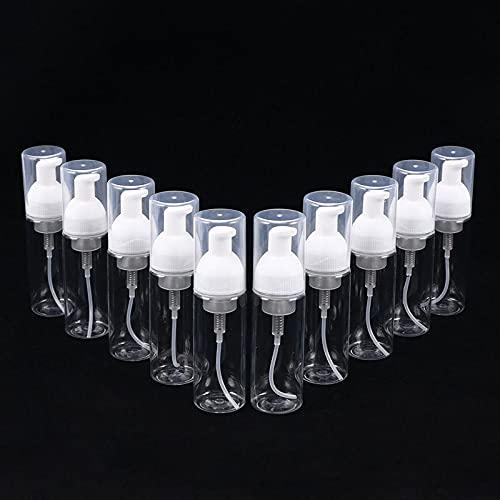 10 botellas de espuma de plástico para bomba de espuma, dispensador de pulverización, botellas vacías, rellenables, envases de espuma, 50 ml