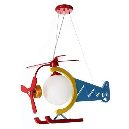 Luce Plafoniera Araña de madera del avión de los niños Luces colgantes Dormitorio de dibujos animados lindo Dormitorio de bebé Lámpara colgante