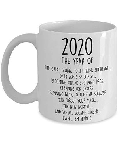 Remembering 2020 Coffee Mug, Lockdown 2020 Gift, Self Isolation Quarantine Stay Home Boris Johnson Toilet Paper Shortage, Family Best Friend Gift, Coffee Mug, Two Tone, Travel, Camper Mug (15 oz)