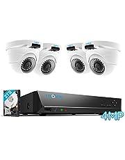 Reolink 4MP 8CH PoE beveiligingscamera systeem, home CCTV systeem met 4X 1440P Twee keer 1080P Outdoor IP camera's en 2TB Hard Drive NVR, 100ft nachtzicht audio opname op afstand, RLK8-420D4-4MP