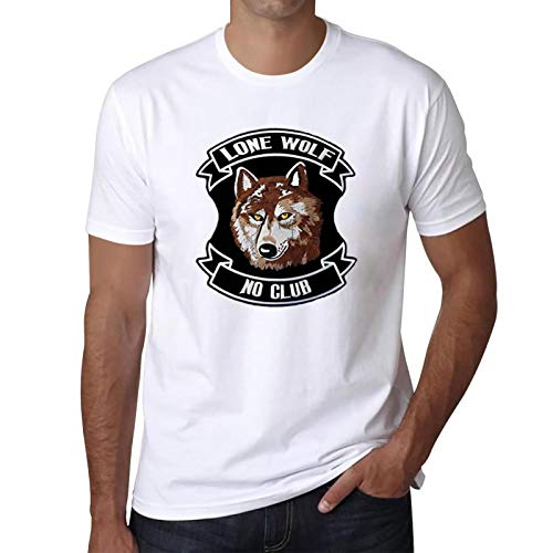 Lone Wolf T-Shirt Summer Crewneck Shirt Outfit Athletic Cotton Short Sleeve Tee XL