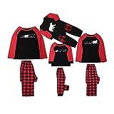 HUAZONG - Juego de pijamas de Navidad para padre, mamá, bebé y niños, diseño de oso impreso para vacaciones en casa pijamas Papá L