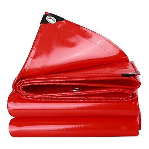 WEIWEI Lona impermeable de alto rendimiento universal de 2 x 6 m de lona de alto rendimiento hecha de lona de 550 gramos de metro cuadrado (color: rojo) Tamaño: 4 x 4 m)