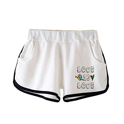 WYFREE.SA LGBT Pride Month Gay Pantalones Cortos para Mujer Pantalones Cortos de Deporte Mujer Chandal de Verano para Mujer Casual Deportivos Shorts para Correr Yoga Fitness Gimnasio
