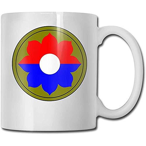 9. Infanteriedivision Vietnam Veteran Grappige koffiemok Coole koffie theekopje 11 oz perfect cadeau voor familie en vrienden