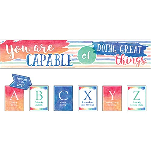 Watercolor You Are Capable of Doing Great Things Bulletin Board