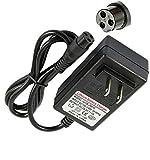 Miacoco Scooter Charger, 24V,3.3 FT Power Adapter for Razor E100 E125 E150 E175 E500 (Black)