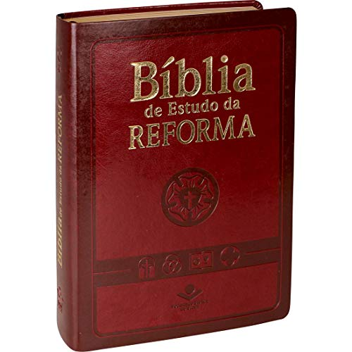 Bíblia de Estudo da Reforma com índice - Capa vinho: Almeida Revista e Atualizada (ARA)