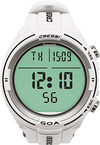 Cressi Goa Computer Watch for Diving Orolgio Computer Dual Mix per Immersioni Subacque, Unisex Adulto, Taglia Unica, Bianco/Nero