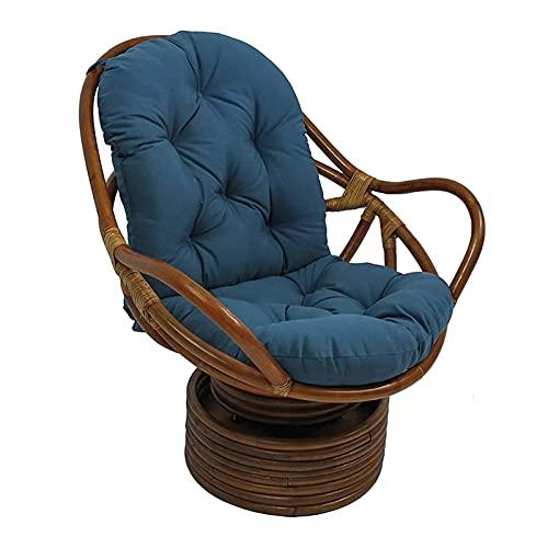 AMYZ Cojín Giratorio para Mecedora,Almohadillas para Silla Mecedora Lavables y Resistentes a los Rayos UV,Alfombrilla de cojín para sillón reclinable Mecedora de ratán,cojín para Asiento de jardí