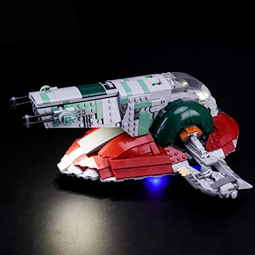 UUK Kit de iluminación para (Star War Slave 1) Modelo de Bloques de construcción, Juego de Luces LED Compatible con Lego 75243, Juguetes de ensamblaje de Regalos para niños DIY (no Incluye el Modelo)