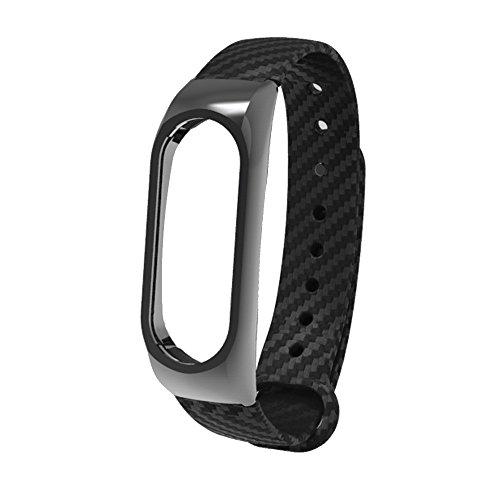 Huihong Fitness Armband, TPE Wristband Business-Stil Armband Armband FüR Xiaomi Mi Band 2 (Keine Uhr) (Schwarz)