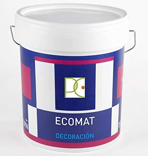 PINTURA PLASTICA ECO BLANCO MATE EXTRA CUBRIENTE - Libre de emisiones - 4 LTS + Regalo Mini Rodillo Antigota