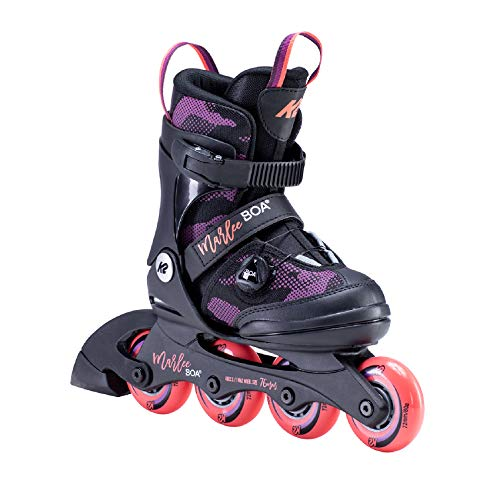 K2 Skates Mädchen MARLEE BOA Inline Skates, black-purple, 35-40 EU