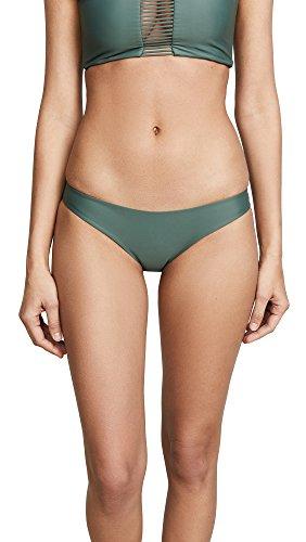 MIKOH Women's Zuma Bikini Bottoms, Army, Green, X-Large