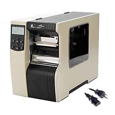 Zebra 110Xi4 Barcode Label Printer | Thermal Transfer & Direct | Industrial, 4-Inch, 203dpi, USB and Ethernet Interfaces, Power Cable (Renewed)