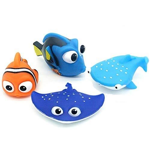 ALLCELE Baby Badespielzeug, Finden Dory Nemo Spritzen Spielzeug für Baby & Kleinkind Spielzeug Dusche und Schwimmen 4 stücke (1)