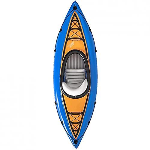 KUANDARMX Kayak Inflable Resistente Al Desgarro, Kayak De Pesca Portátil, Bote A La Deriva Plegable Fácil De Montar para Lagos, Pesca Y Costa, Rafting Al Aire Libre