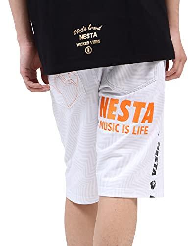 [ネスタ ブランド] NESTA BRAND パンツ サイドライン トリップ 総柄 イージー ショーツ �U 202NB1906 ホワイト L