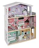 Bayer Chic 2000 - 296 20 – Maison de poupée Isabella en Bois avec Meubles, Hauteur 115 cm, Multicolore
