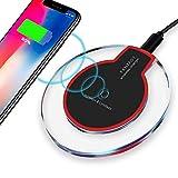ACCLD Schnelle Wireless-Ladegerät Pad, für iPhone X XS Max XR 8 Airpods Apple-Laden Handy-Zubehör,Weiß