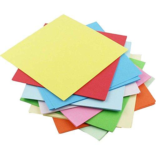 DIY Quadratisches Papier Handwerk Bunte Papierfaltens Kits,100Pcs,15CM
