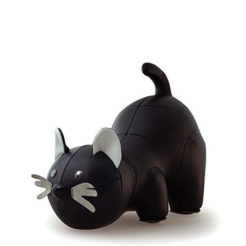 Züny - gatto libro supporto/fermaporta nero