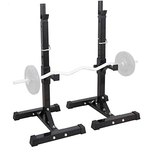 zhu%zai Pair of Adjustable Squat Rack, Dumbbell Racks Stands Free Bench Press Stands Gym/Home Gym Portable Dumbbell Racks Stands