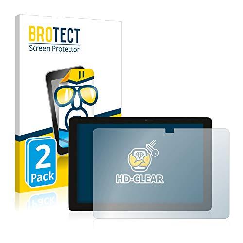 BROTECT Schutzfolie kompatibel mit Captiva Pad 10 2-in-1 (2 Stück) klare Bildschirmschutz-Folie