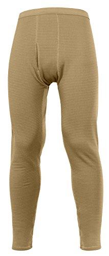 Rothco ECWCS Gen III Mid-Weight Underwear Bottoms (Level II), AR 670-1 Coyote Brown, Medium