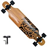 APOLLO Longboard for Professionals and Beginners; Long Board for Kids, Teens and Adults; Freeride Skateboard Cruiser and Downhill Longboards - Tuvalu